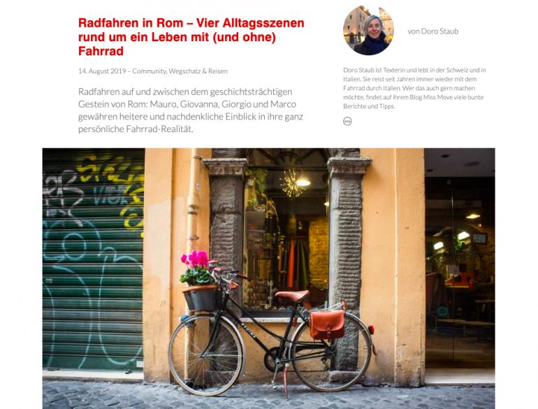 Fahrrad fahren in Rom