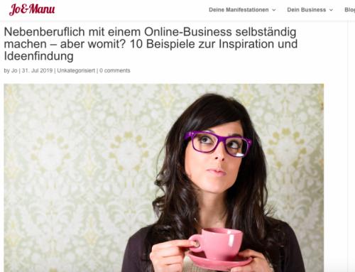 Nebenberuflich mit einem Online-Business selbständig machen – aber womit?