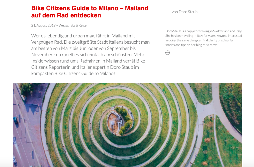 Bike Citizens Guide to Milano