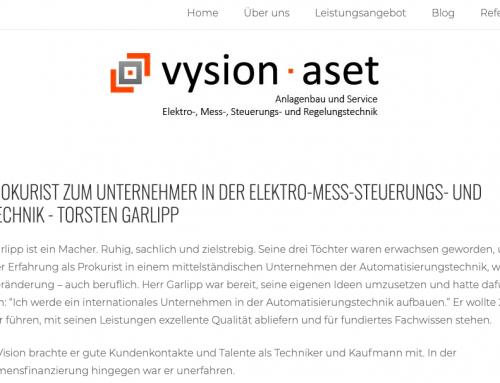 Erfolgsgeschichte: vysion·aset GmbH