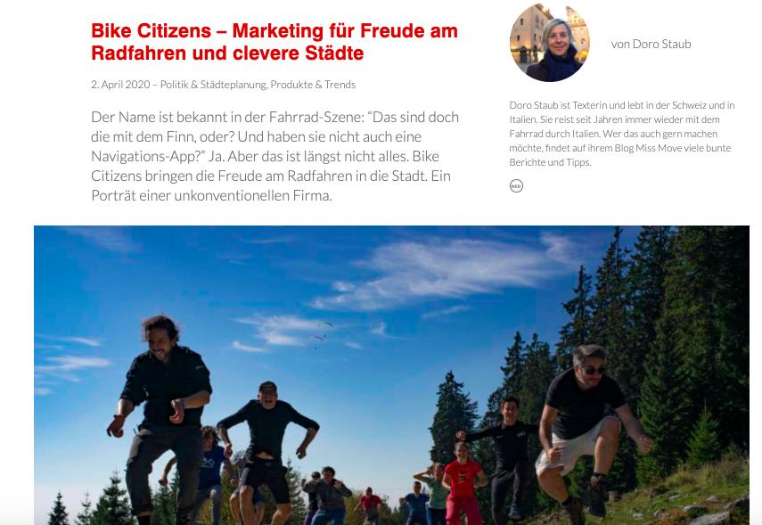 Marketing für Freude am Radfahren und clevere Städte