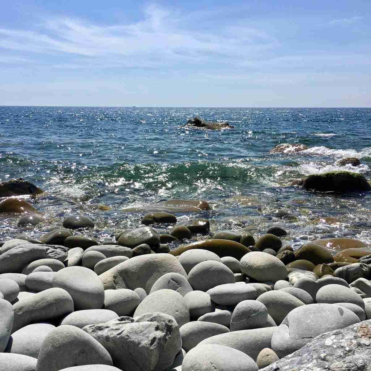 Steine am Meeresstrand
