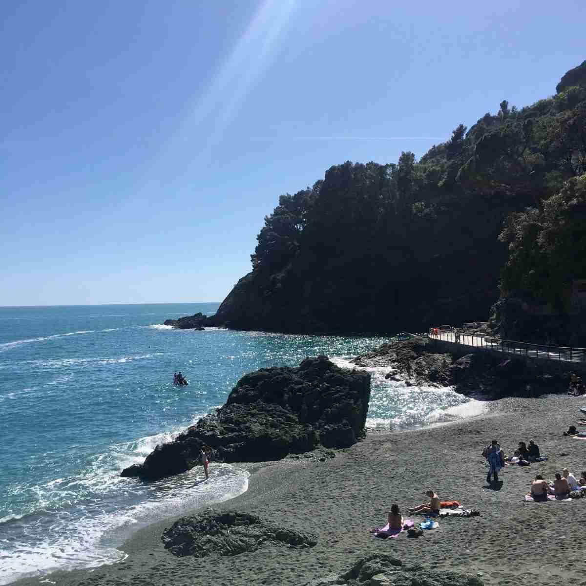 Baden im Meer in Bonassola